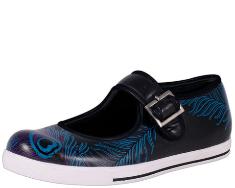 Peacock Feather Mary Jane Plimmies