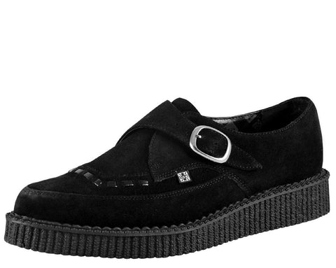 Suede Pointed Buckle Creeper