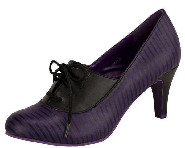 Purple stripe tie anit-pop heel - T.U.K.