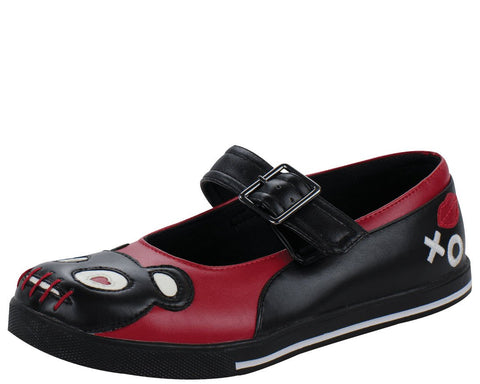 Red and black lover teddy mary jane plimmies - T.U.K.