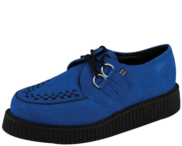 Electric Blue Suede Low Creeper - T.U.K.