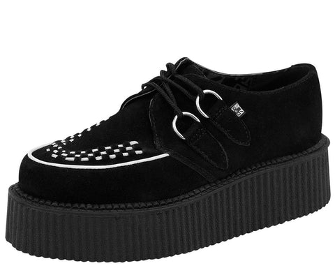 Contrast Suede Creepers - T.U.K.