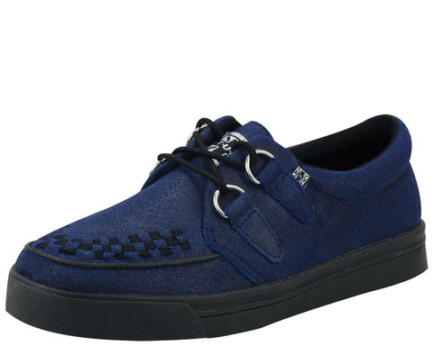 Distressed Blue Suede Creeper Sneaker - T.U.K.