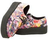 Floral Leather Creeper - T.U.K.