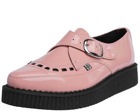 Peachy Pink Patent Pointed Creeper