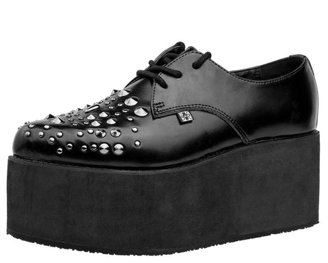Black Stud Stacked Pointed Creeper - T.U.K.