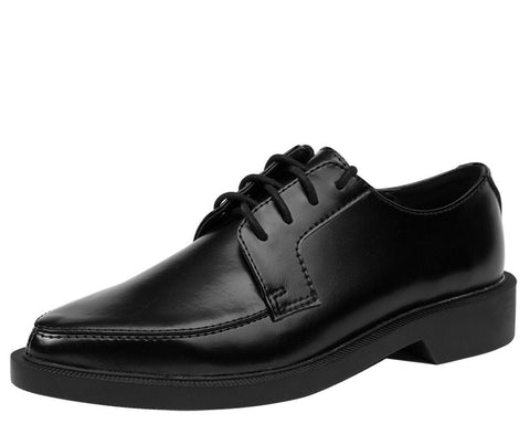 Black Leather Jam Shoe - T.U.K.