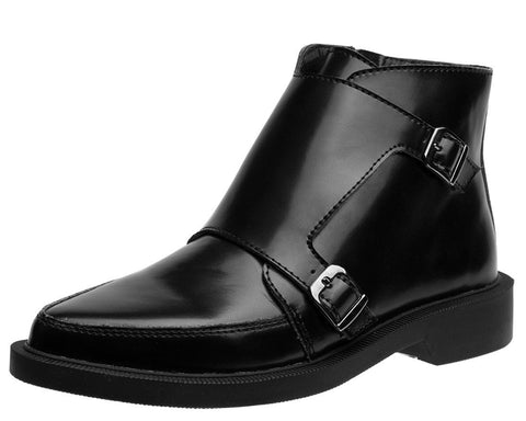 Black Double Buckle Jam Boot - T.U.K.