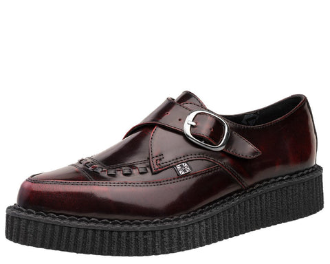 Burgundy Rub Off Pointed Creeper - T.U.K.