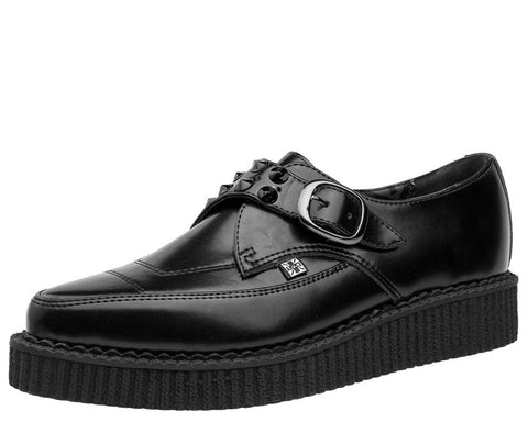 Black Spike Pointed Buckle Creepers - T.U.K.