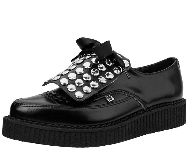 Black Studded Kilt Pointed Creeper