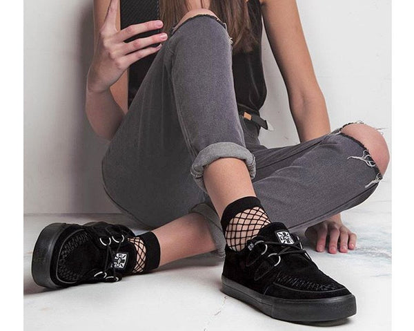 Black Suede D-Ring VLK Sneaker