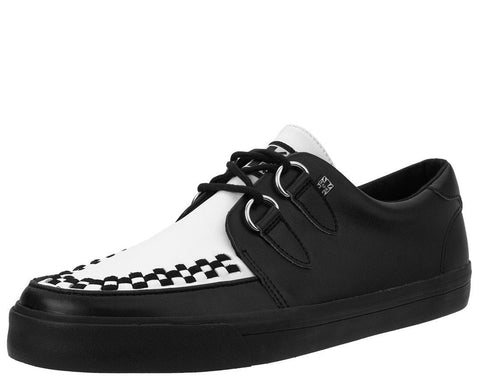 Black & White D-Ring VLK Sneaker - T.U.K.