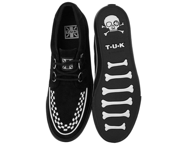 Black Suede White Interlace VLK Sneaker - T.U.K.