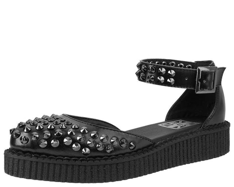 Black Pointed Studded Sandal