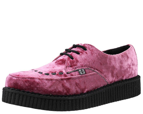 Rose Pink Velvet Pointed Creeper