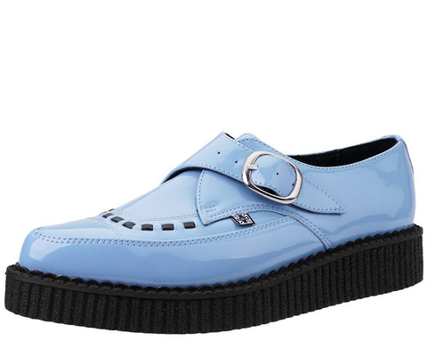 Baby Blue Patent Pointed Creeper