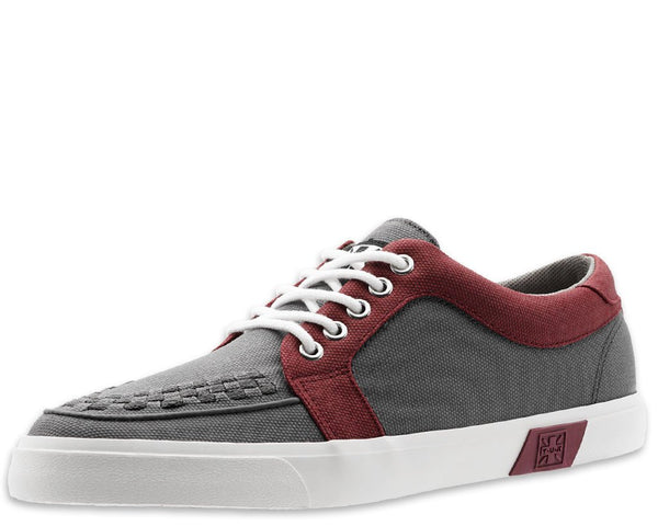 Grey & Burgundy No-Ring VLK Sneaker