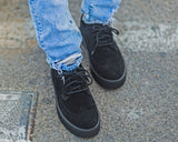 Black Suede EZC Brogue Shoes