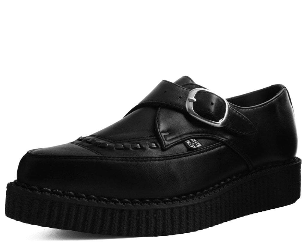 Black TUKskin™ Pointed Buckle Creeper