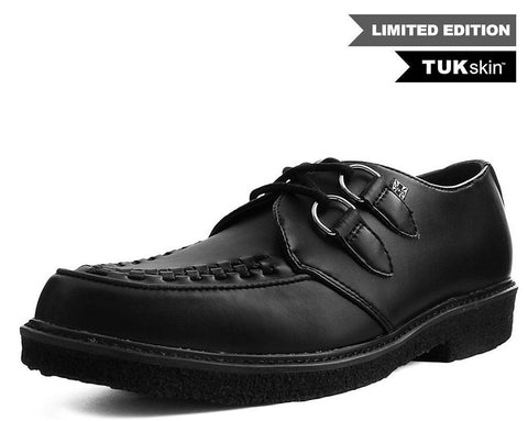 Black TUKskin™ D-Ring Crepe Dress Shoe