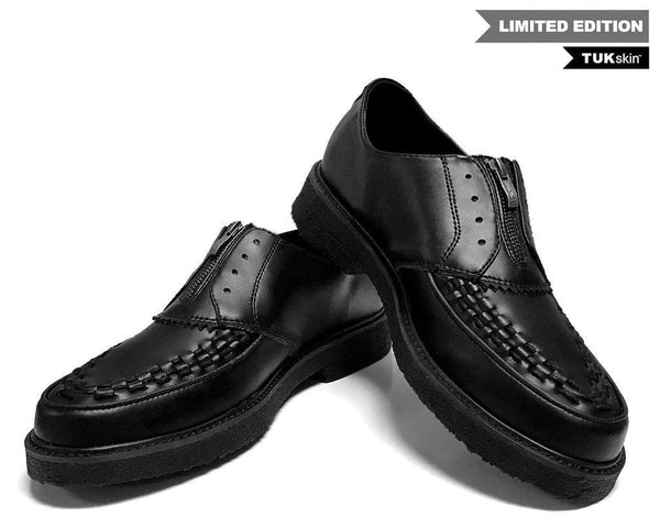 Black TUKskin™ Zip-On Dress Shoe