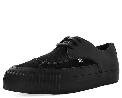 Black Leather & Suede Pointed Bumper EZC