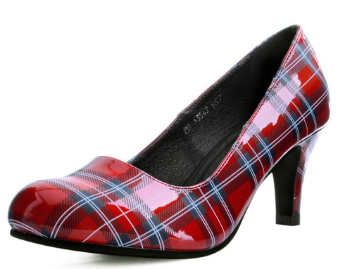 Red Plaid Heel