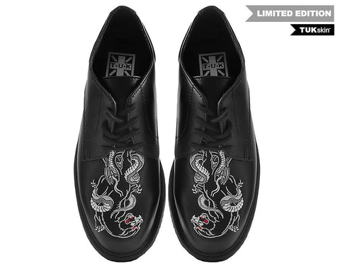 TUKskin™ Panther & Snake Gibson Crepe Dress Shoe