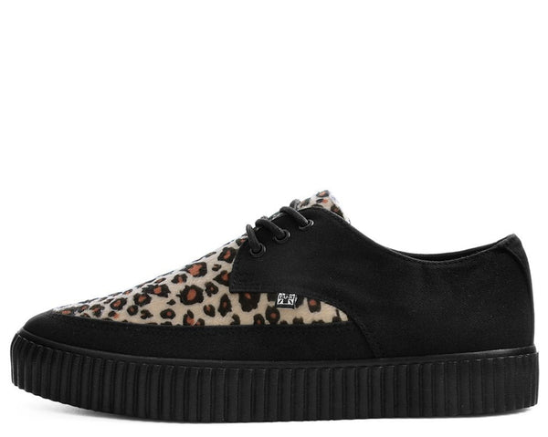 Black & Leopard Tie Pointed Lace Up EZC