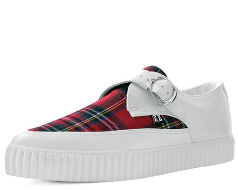 White & Plaid Pointed Buckle EZC