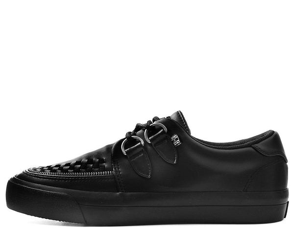 Black Tukskin™ Zipper D-Ring VLK Creeper Sneaker