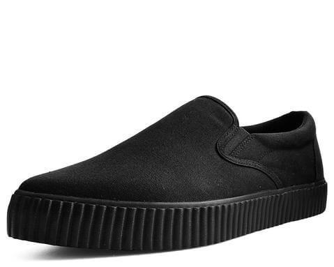 Black Basic Twill Pointed EZC Slip-On