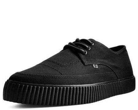 Black Basic Twill Pointed Lace Up EZC