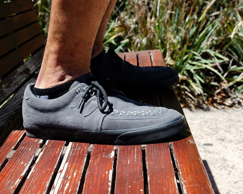 Grey Suede D-Ring VLK Sneaker