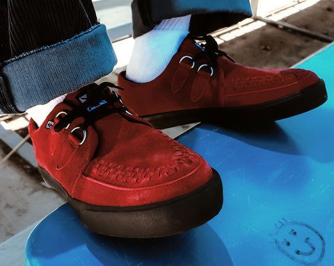 Dark Red Suede D-Ring VLK Sneaker