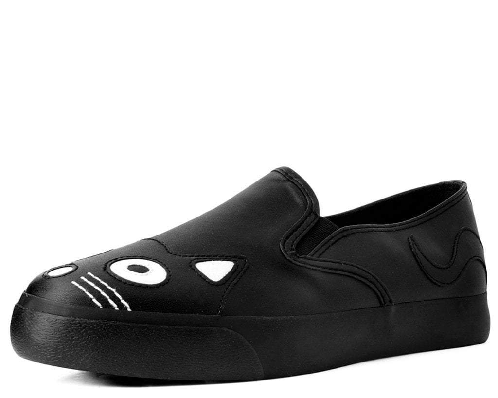 Black Kitty Slip On Sneaker