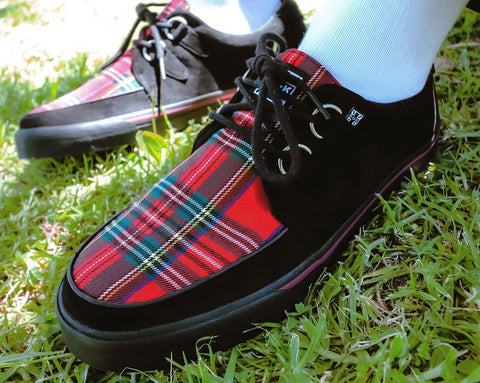 Black Faux Suede & Plaid VLK Sneaker