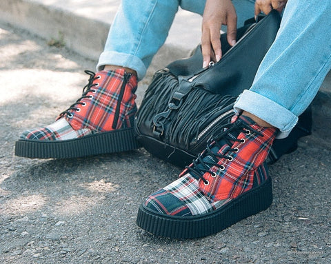 Mixed Plaid Casbah Boot