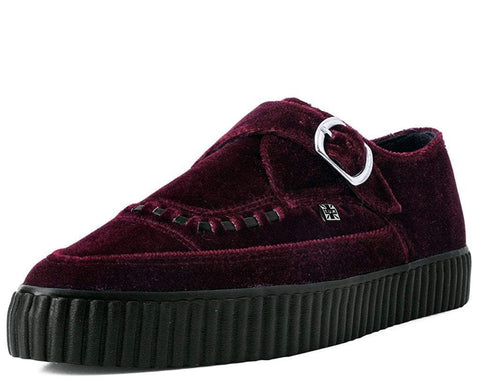 Burgundy Velvet Pointed Buckle EZC