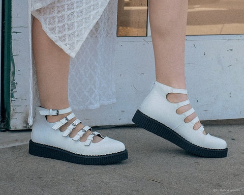 e6c80982e316 White TUKskin™ Multi-Strap Mary Jane Creeper