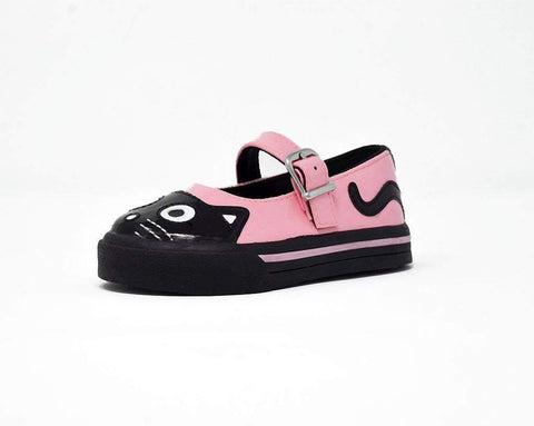 Black & Pink Kitty Mary Jane Toddler Sneaker