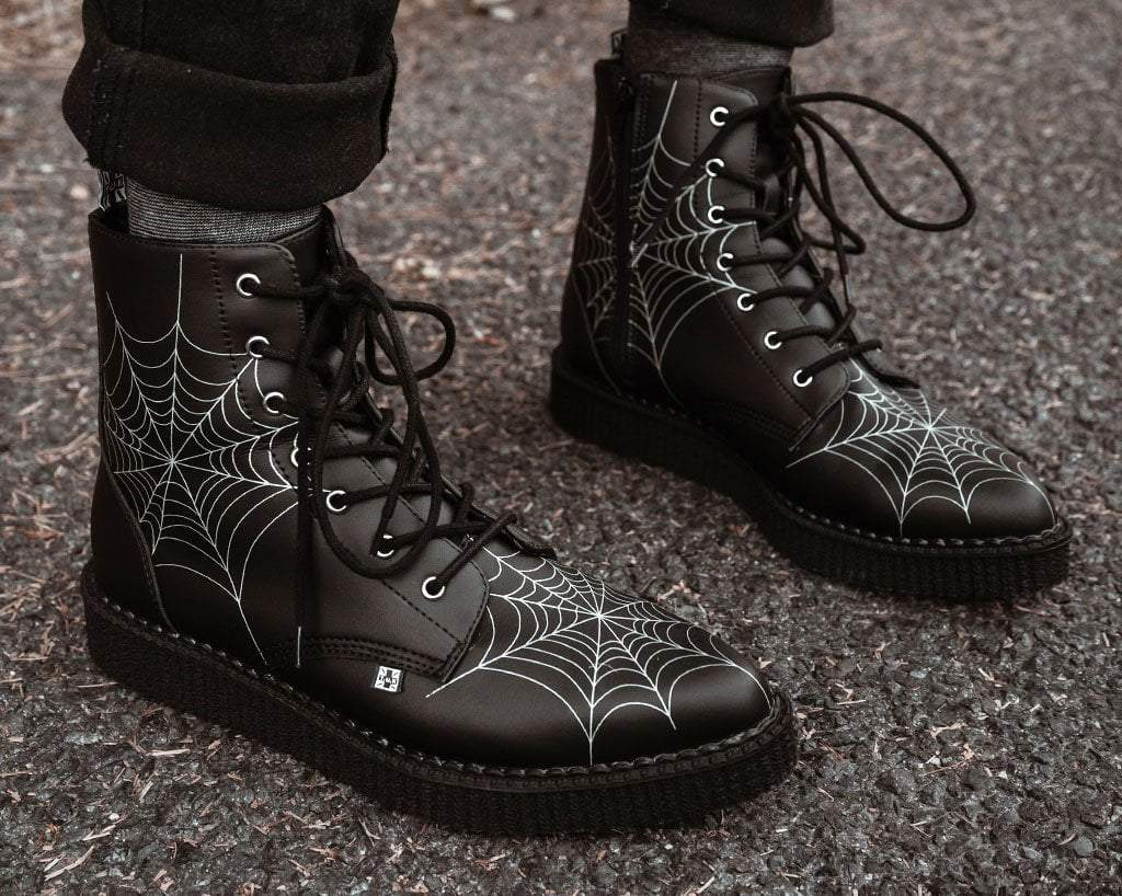 Black  TUKskin™ 7-Eye Spiderweb Glow Boot