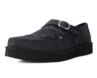 Charcoal Suede Buckle Pointed Creeper