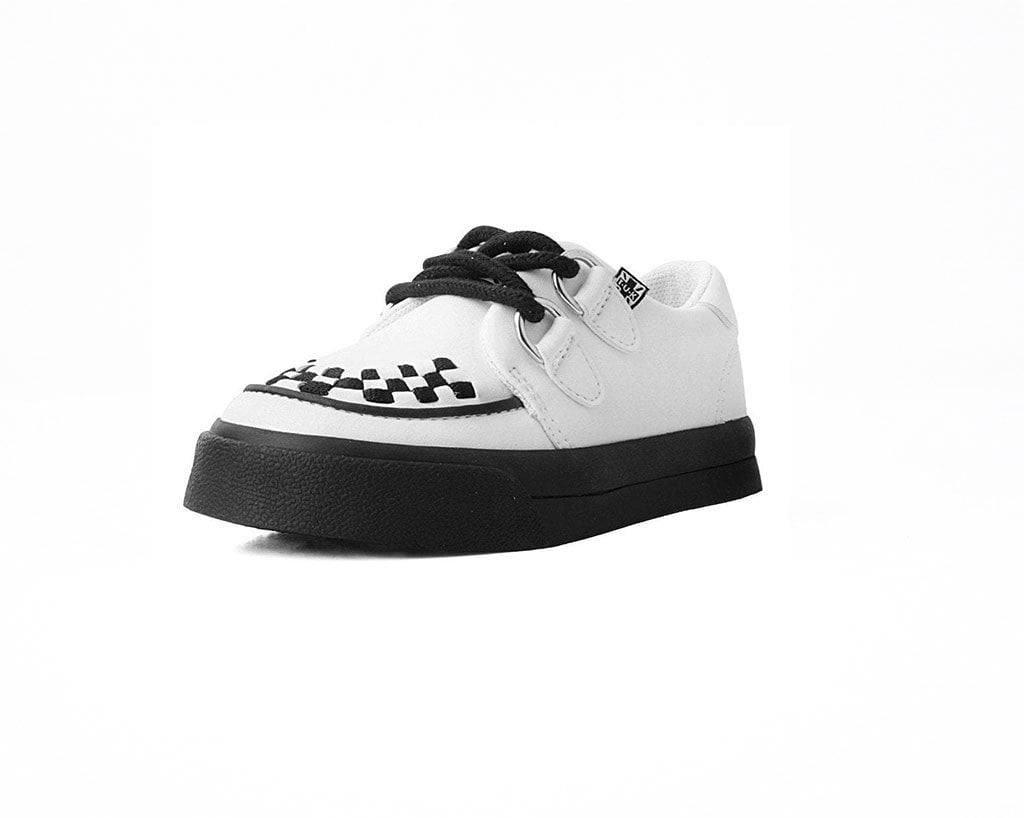 White TUKskin™ 2-Ring VLK Creeper Toddler Sneaker