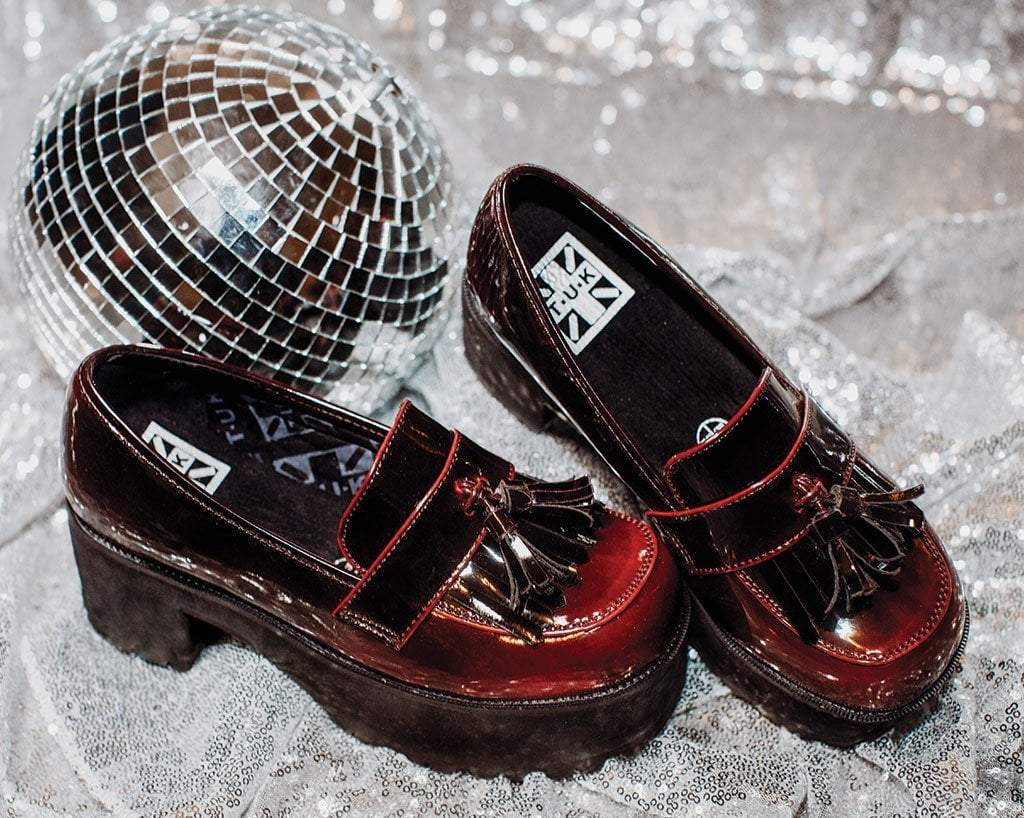 Burgundy Gradient Loafer Platform