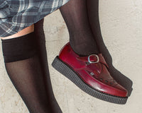 Burgundy Rub Off TUKskin™ Monk Buckle Creeper
