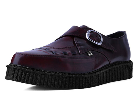 Burguny Rub Off TUKskin™ Monk Buckle Creeper
