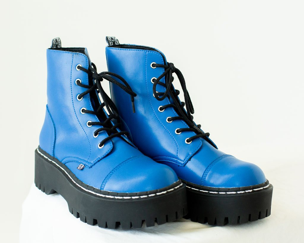Electric Blue Double Decker Boot