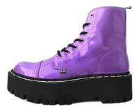 Purple Metallic 7-Eye Double Decker Boot